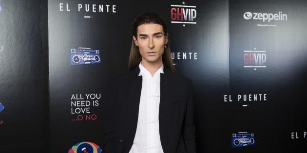 """Miguel Vilas durante una fiesta por el final del programa """" GH Vip """" y """" Gran Hermano 17 """" en Madrid."""