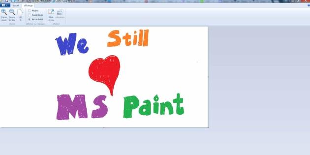 Paint ne va pas mourir, affirme Microsoft