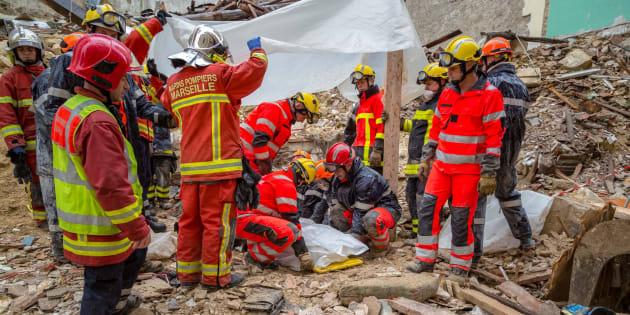 Un sixième corps a été découvert mercredi sous les décombres des immeubles effondrés dans le quartier de Noailles à Marseille.