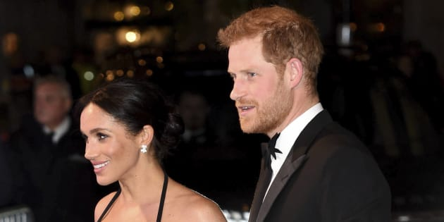 Prince Harry, the Duke of Sussex and Meghan, the Duchess of Sussex attend the Royal Variety Performance at the London Palladium.