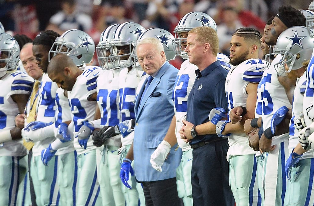 ce003785e4b Dallas Cowboys owner Jerry Jones said on Sunday that the team will not  tolerate players who