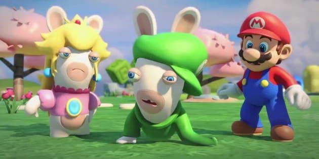 Mario s'invite dans les Lapins Crétins Kingdom Battle