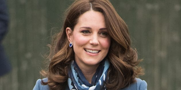 The Duchess of Cambridge visits London's Roe Green Junior School on Jan. 23.
