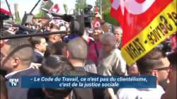 L'accueil agité de Macron par des militants syndicaux à
