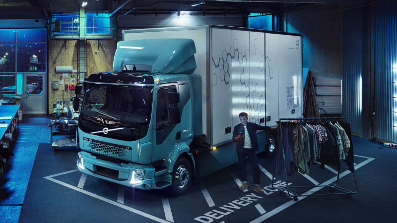 photo image Volvo introduces its first all-electric truck