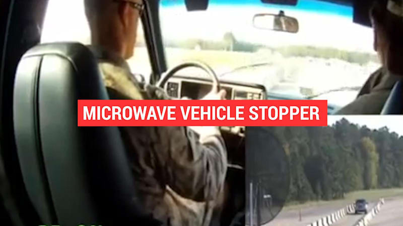 Pentagon's microwave weapon stops vehicles in their tracks