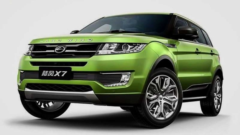 Land Rover wins legal battle over Evoque clone Land Wind X7