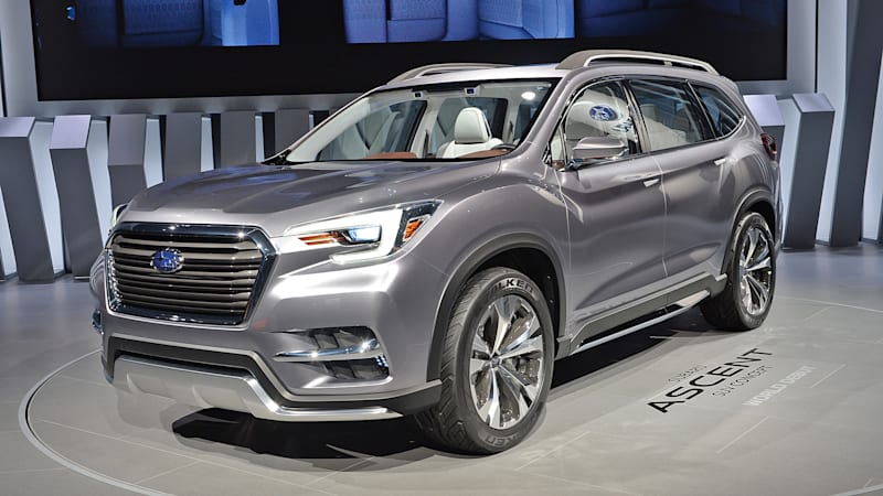 Subaru Ascent Three Row Suv Set For 2018 Launch Autoblog