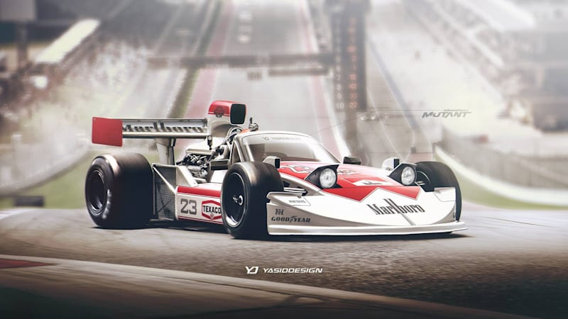 For No A Reason This Artist Asked What If Mazda Built An Mx 5 Based F1 Car And It Were From The 1970s Glory Days Of James Hunt