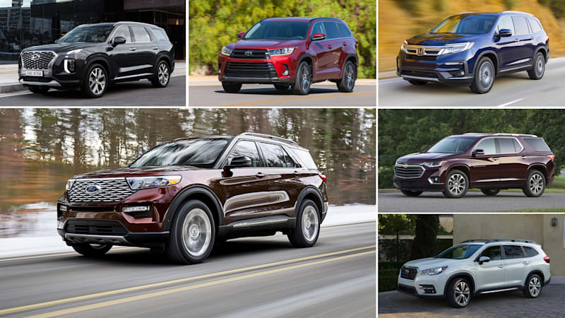 2020 Ford Explorer vs Traverse, Pilot, Palisade, Ascent and
