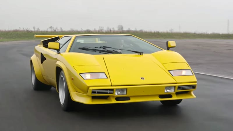 Take A Ride In A Lamborghini Countach With Evo Autoblog