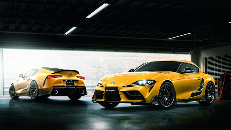 2020 Toyota Supra tries on the first batch of TRD upgrades