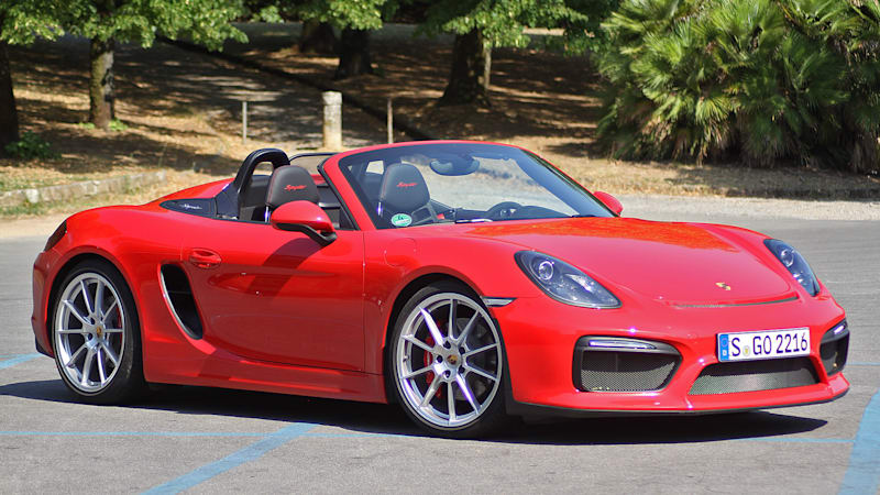 2016 porsche boxster spyder first drive w video autoblog. Black Bedroom Furniture Sets. Home Design Ideas