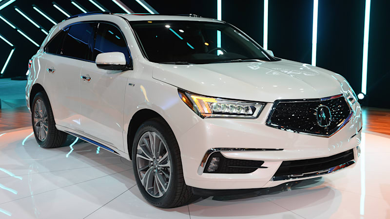 2017 Acura Mdx Has A Sharper Face And Sport Hybrid Option Autoblog