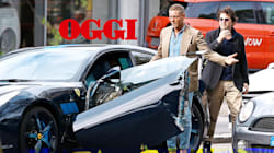 Lapo distrugge la sua Ferrari da fermo. Danni per 30 mila