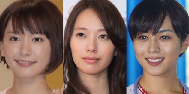 左から、新垣結衣、戸田恵梨香、比嘉愛未
