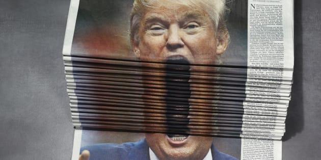 """Cette pile de journaux avec Trump en """"une"""" vaut le détour(nement)"""