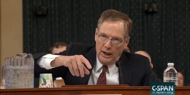 El representante comercial de Estados Unidos, Robert Lighthizer, durante su comparecencia en la Cámara baja.