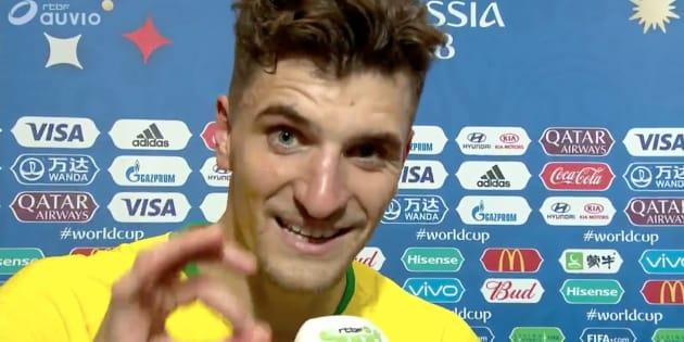 """Brésil-Belgique à la Coupe du monde: """"Mettez-vous une bonne purge"""", lance Thomas Meunier aux supporters belges."""