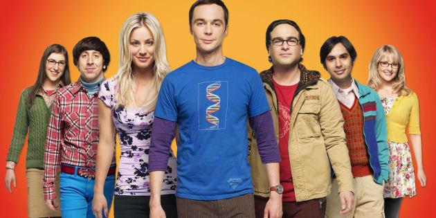 """Les acteurs de """"Big Bang Theory"""" sur CBS."""