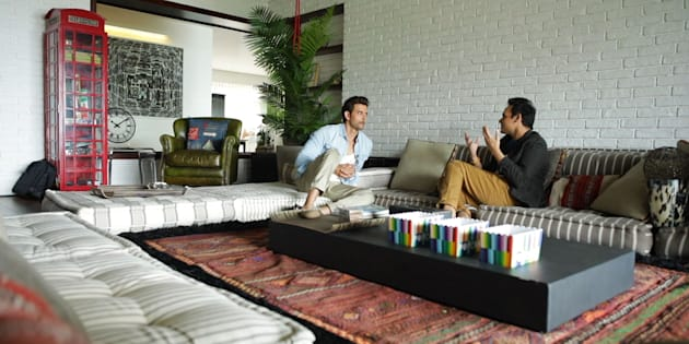 Hrithik Roshan with Interior Designer Ashiesh Shah.