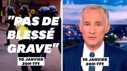 Le 20h de TF1 se contredit sur les violences policières pendant les manifs de gilets