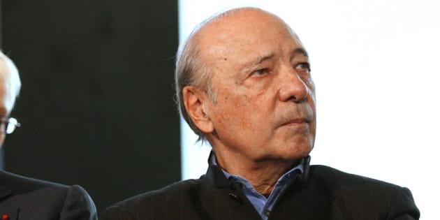 Jacques Seguela au siège du groupe Havas en 2006. AFP PHOTO THOMAS COEX / AFP PHOTO / THOMAS COEX