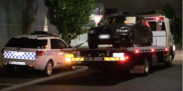 The dark grey BMW 1 series with smashed in windscreen and damaged front was found by police after an exhaustive two-day search.