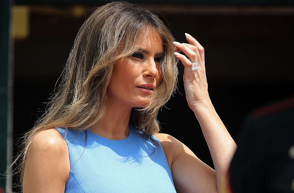 a2262a354f2a Melania Trump makes unexpected style move in Michael Kors dress ...