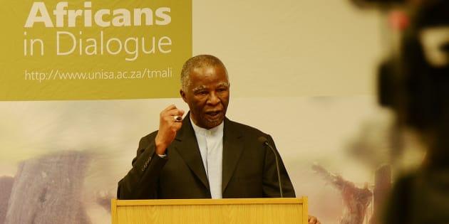 Former President Thabo Mbeki  Mbeki, now Unisa chancellor