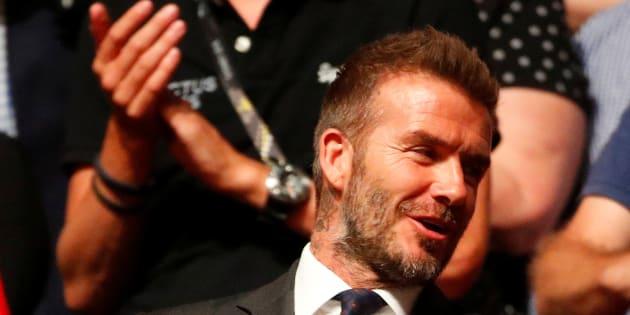 David Beckham en Australie le 27 octobre.