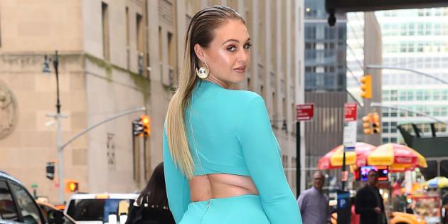 Iskra Lawrence à la Semaine de la mode de New York.