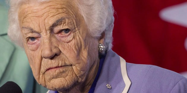 Hazel McCallion is shown in Mississauga, Ont. in a May 14, 2014 file photo. The 97-year-old was recently appointed an advisor to Premier Doug Ford.