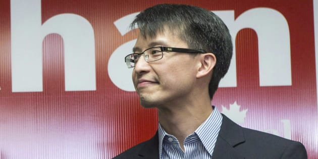 Liberal MP Arnold Chan appears at an event with Justin Trudeau at his campaign office on May 21, 2014.