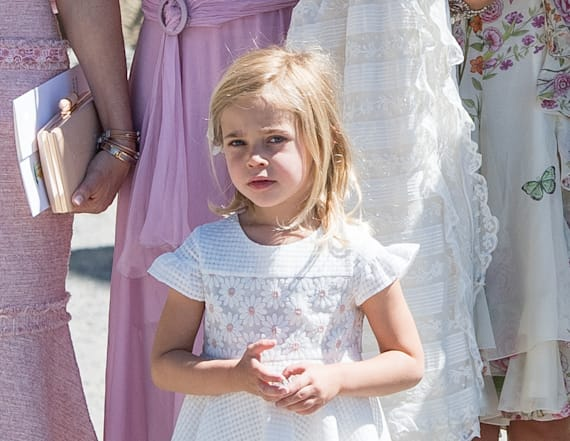 Leonore steals the show during sister's christening