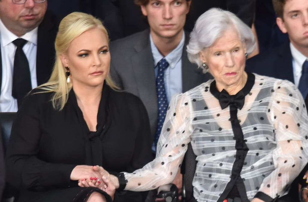 Meghan Mccain Glares At Vice President Mike Pence As He Speaks At Her Father S Funeral Aol News