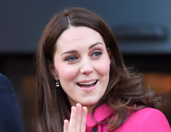 Duchess Kate glows in hot pink Mulberry coat