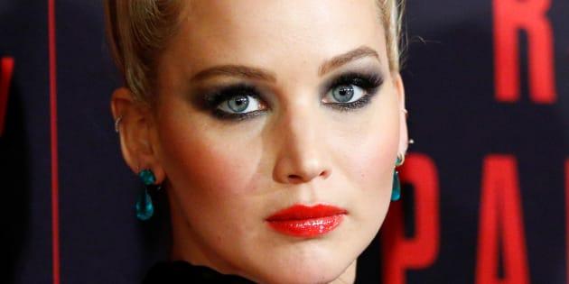 Jennifer Lawrence en la premiere de 'Gorrión rojo'