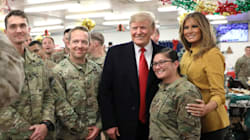 Trump Visits Iraq, His First Trip To A Combat Zone In His