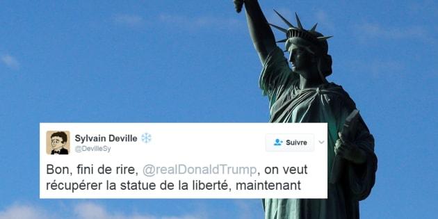 Décret anti-musulmans de Donald Trump: des Français veulent que les États-Unis rendent la Statue de la Liberté