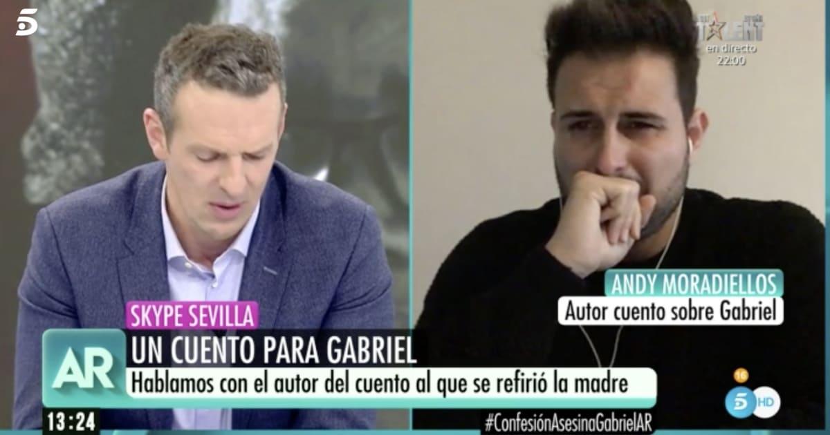 Joaquín Prat, muy emocionado al escuchar el cuento dedicado a Gabriel en 'El Programa de Ana Rosa'