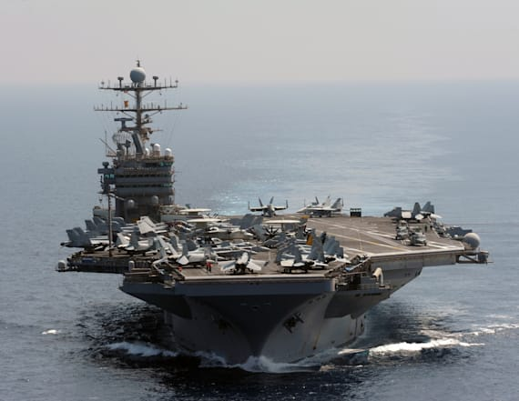 US Navy ship fires warning shots at Iranian vessel