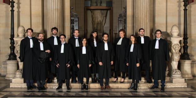 Les secrétaires de la conférence des avocats du Barreau de Paris, sur la photo, sont les lauréats chaque année d'un prix d'éloquence prestigieux .