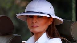 Ennesimo scivolone per Melania Trump: con il cappello coloniale in visita in Africa. Lei si difende