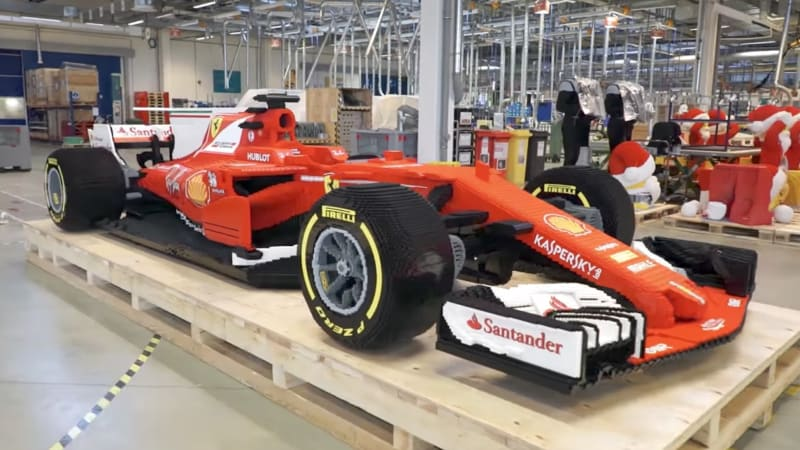 Continue Reading Watch Team Build Life Size Ferrari F1 Car From Lego Bricks Originally Eared