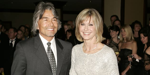 File photo of Patrick McDermott and Olivia Newton-John.