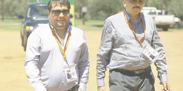 Brothers Ajay and Rajesh Gupta arrive as VIP guests at the ANC conference on December 17 2012 in Bloemfontein, South Africa.