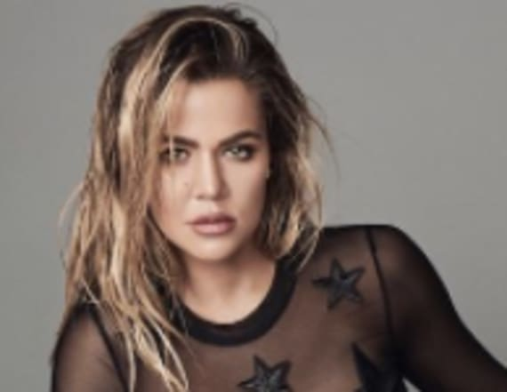 Khloe Kardashian dons totally sheer lingerie