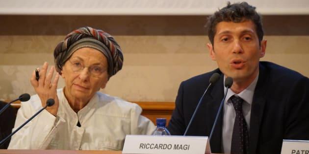 Emma Bonino e il segretario di Radicali Italiani, Riccardo Magi