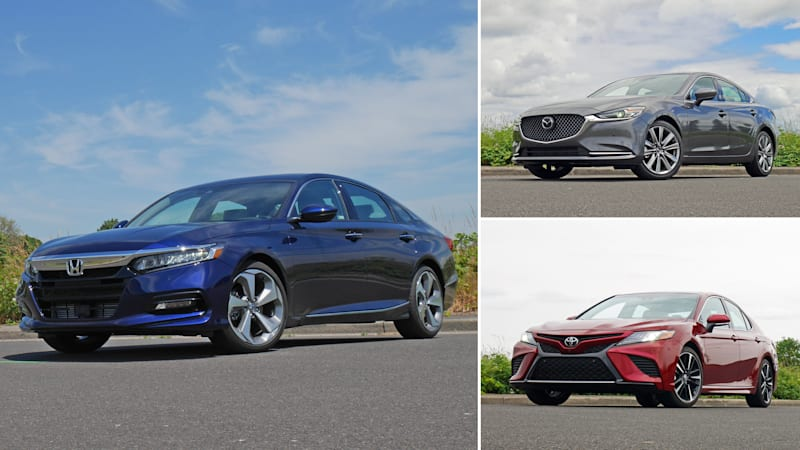 Midsize Sedan Comparison Honda Accord Vs Toyota Camry Mazda6